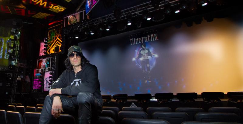 Criss Angel, Las Vegas, in the auditorium of his MindFreak Show.