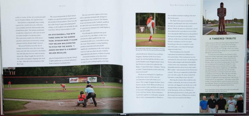 Joe Miller's photos of Dundas ballpark, inside Town Ball Parks book.